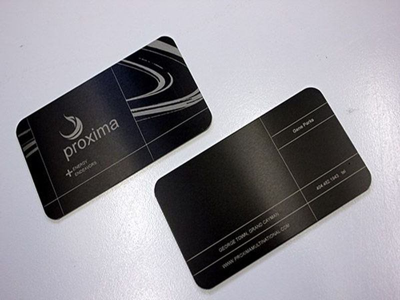 Metal business cards are perfect for a professional and modern look