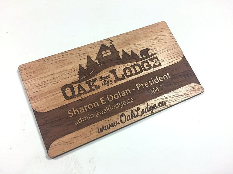 Wood Business Cards Laser Engraved Starting At 130 Each
