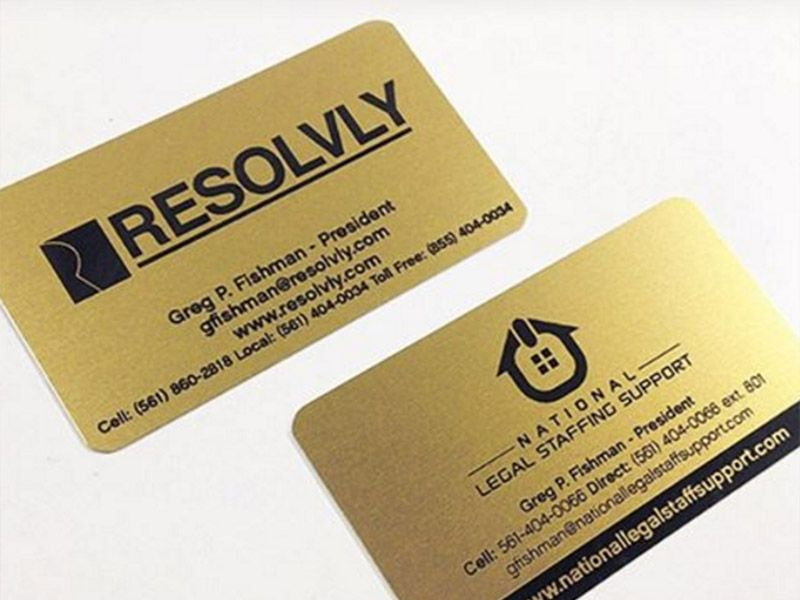 Laser engraved business cards on wood, metal, plastic - starting at ...