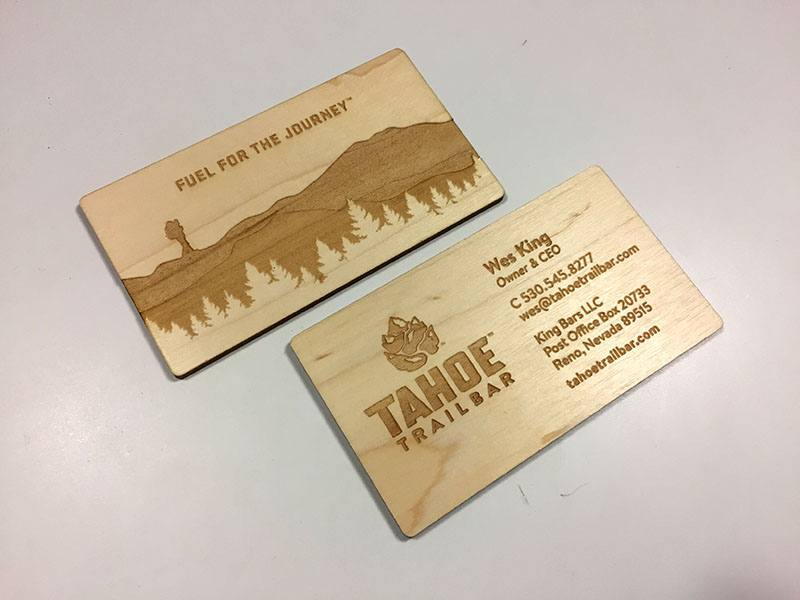 Laser Engraved Business Cards On Wood Metal Plastic Starting