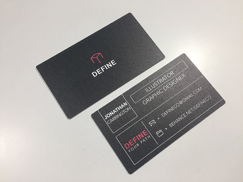 Plastic business cards allow you to get noticed over cheap paper cards black plastic colourmoves